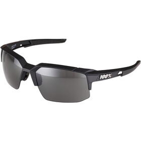 100% Speedcoupe Smoke Glasses soft tact black